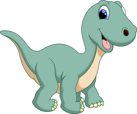 Illustrazione per Cute dinosaur diplodocus cartoon  - Immagini Royalty Free