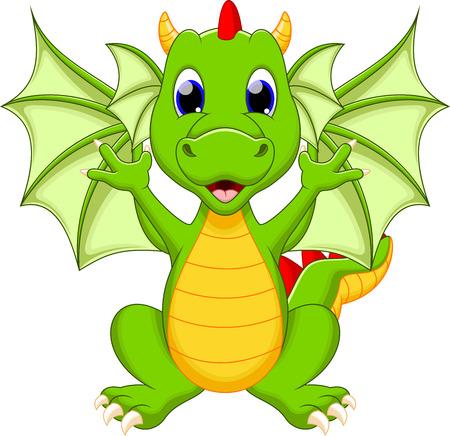 Ilustración de Funny dragon cartoon - Imagen libre de derechos