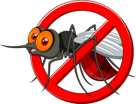 Ilustración de Stop mosquito cartoon  - Imagen libre de derechos