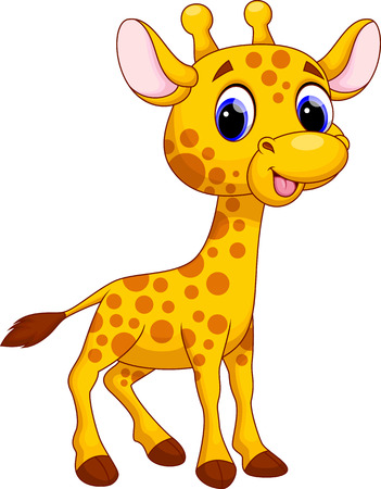 Illustration pour Cute giraffe cartoon - image libre de droit