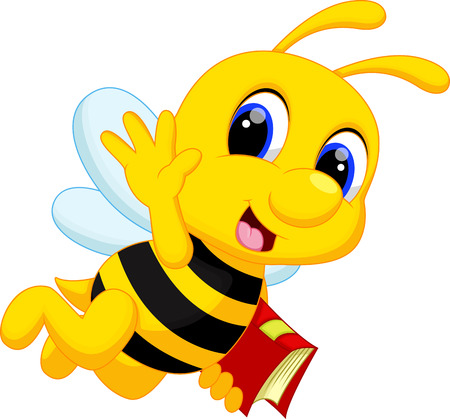 Illustrazione per Cute bee cartoon - Immagini Royalty Free