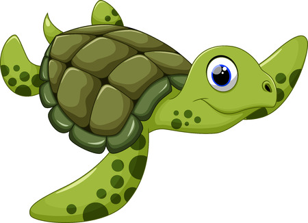 Illustrazione per Cute turtle cartoon - Immagini Royalty Free