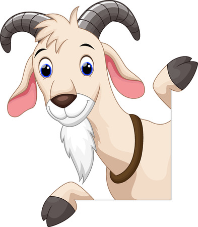 Illustration for Cute goat cartoon - Royalty Free Image