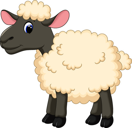 Illustration for Cute sheep cartoon - Royalty Free Image