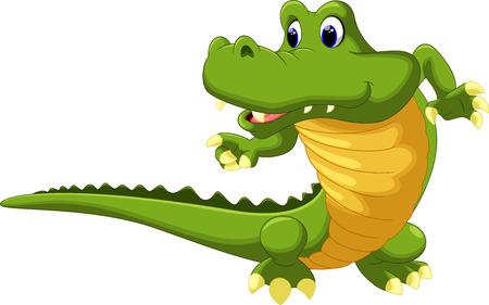 Illustration for Crocodile cartoon - Royalty Free Image