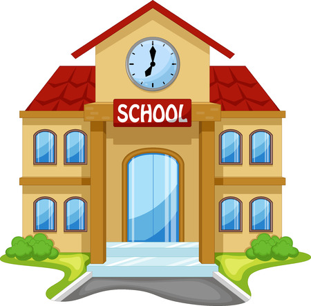 Illustration pour School building cartoon - image libre de droit