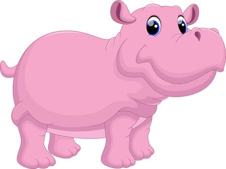 Illustration for Hippo cartoon - Royalty Free Image