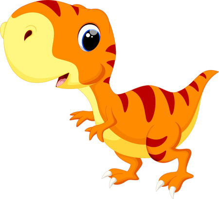 Photo pour Cute baby dinosaur cartoon - image libre de droit