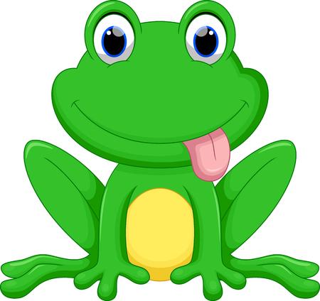 Ilustración de Cute frog cartoon - Imagen libre de derechos