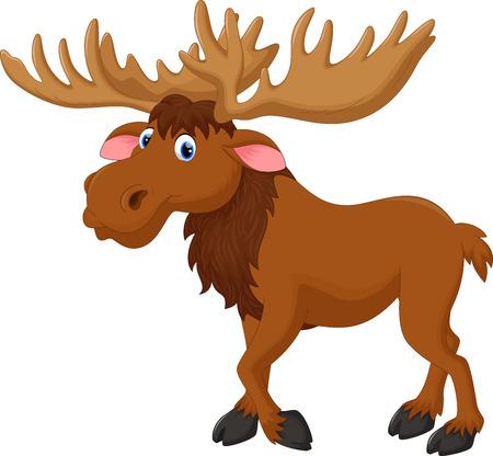 Illustration pour Illustration of moose cartoon - image libre de droit