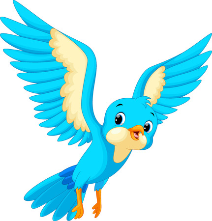 Illustration pour Cute bird cartoon - image libre de droit
