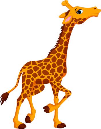 Illustration pour Cute giraffe cartoon - image libre de droit