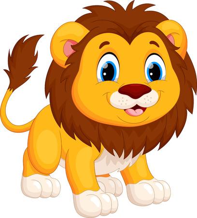 Ilustración de Cute lion cartoon - Imagen libre de derechos