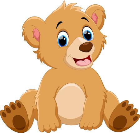 Illustration pour Cute baby bear cartoon - image libre de droit