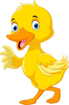 Illustration pour Cute duck cartoon - image libre de droit