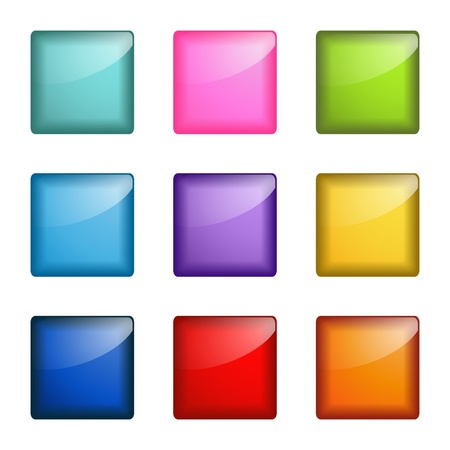 Illustration pour glossy square buttons - image libre de droit