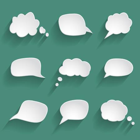 Illustration pour set of paper speech bubbles - image libre de droit