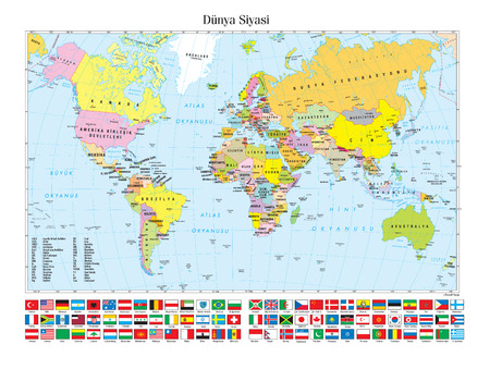 Illustration for Political Map of the World - Royalty Free Image