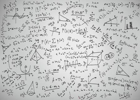 Foto de Mathematics equations and formulas on a white background - Imagen libre de derechos