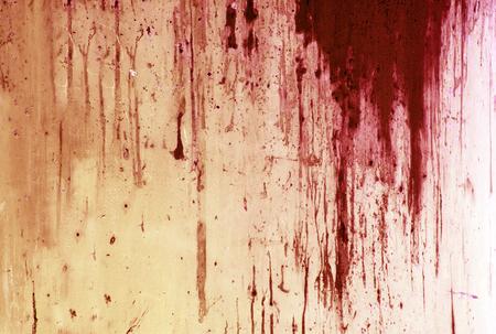 Photo pour Halloween background. Blood on metal wall background - image libre de droit