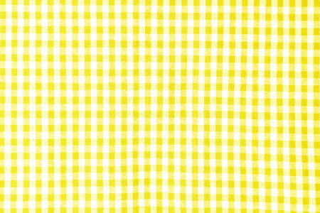 Foto per Yellow table cloth texture background, tablecloth top view - Immagine Royalty Free