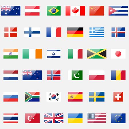 Ilustración de 36 detailed glossy icons. Correct proportions and color scheme. - Imagen libre de derechos