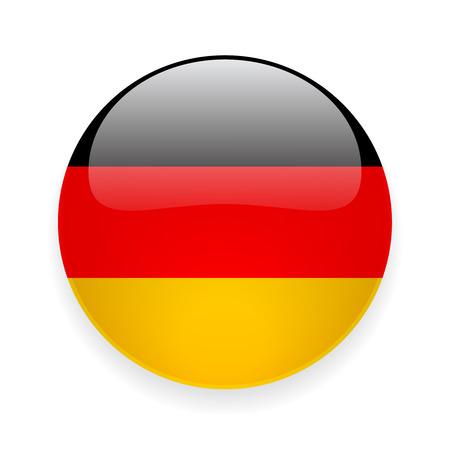 Ilustración de Round glossy icon with national flag of Germany on white background - Imagen libre de derechos
