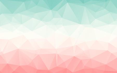 Illustration pour Gradient turquoise light red pink vector polygonal abstract wallpaper - image libre de droit
