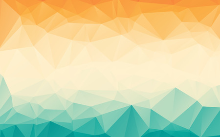Ilustración de Colorful orange blue gradient polygonal abstract wallpaper background - Imagen libre de derechos
