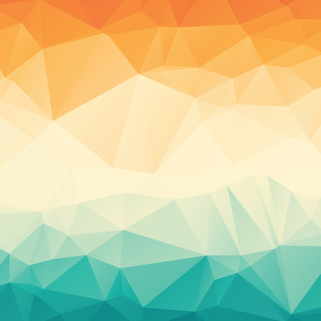 Photo pour Stylish colorful orange blue gradient polygonal abstract background - image libre de droit