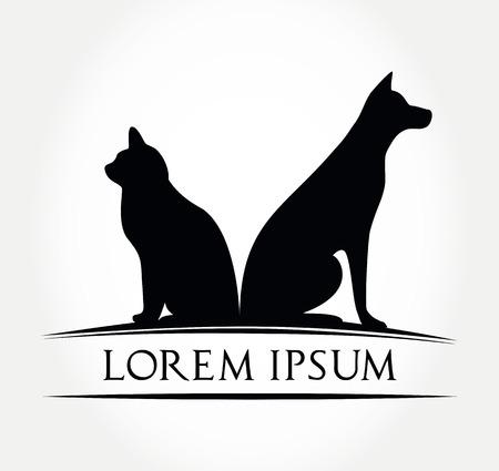 cat and dog symbol - illustration