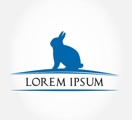 hare symbol  rabbit vector illustration