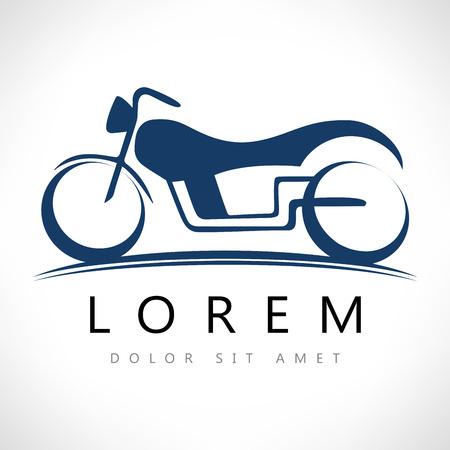 Motorcycle vector. Bike symbol.
