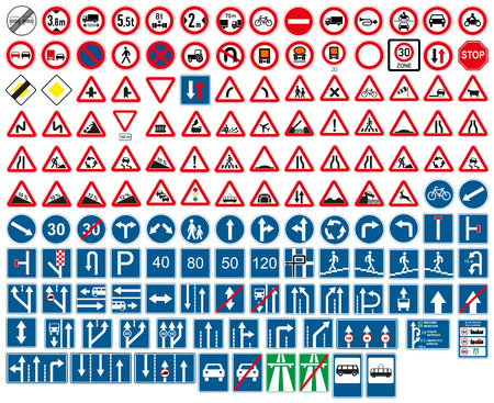 Illustration pour road signs - image libre de droit