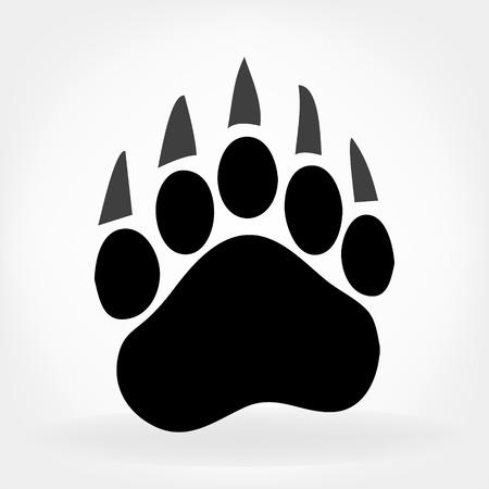 Illustration pour bear footprint - image libre de droit