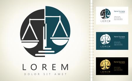 Illustration pour Scale of justice logo - image libre de droit