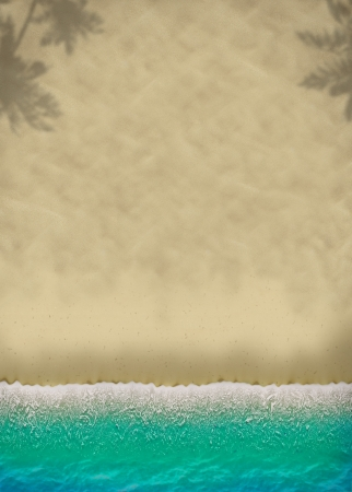 Foto de Summer beach travel poster background with space - Imagen libre de derechos