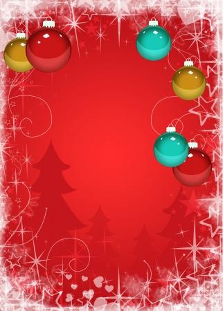 Photo pour Merry Christmas decoration poster or flyer background with space - image libre de droit