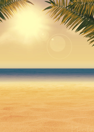 Photo pour Summer holiday, travel, party advert poster or flyer background with empty space - image libre de droit