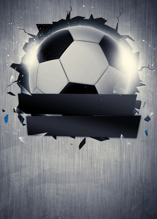 Photo pour Abstract soccer or football sport invitation poster or flyer background with empty space - image libre de droit