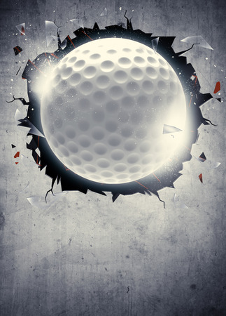 Photo pour Abstract golf sport invitation poster or flyer background with empty space - image libre de droit