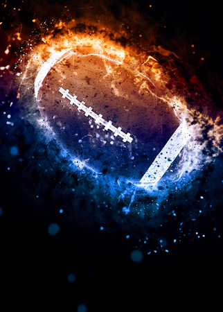 Photo pour American football sport poster or flyer background with space - image libre de droit