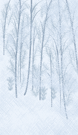 Illustration pour Winter abstract light background - snowy forest - vector art illustration. - image libre de droit
