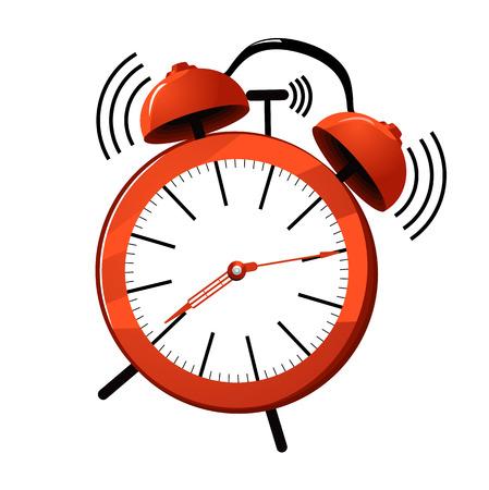 Illustration for illustration of a red ringing alarm clock. - Royalty Free Image