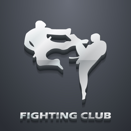 Ilustración de Fighting club illustration. Creative and sport style image - Imagen libre de derechos