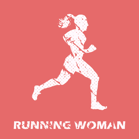 Ilustración de Running woman illustration. Creative and sport style image - Imagen libre de derechos
