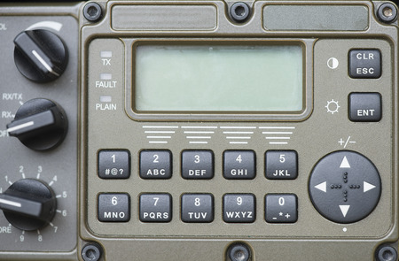 Military communication control panel.