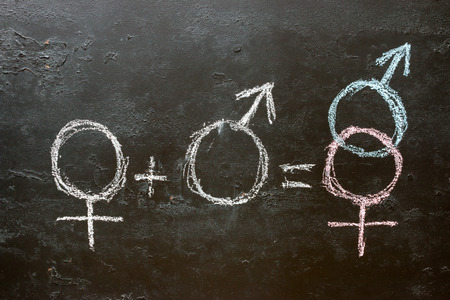 Photo pour Male and female gender symbol and sign of heterosexuality - image libre de droit