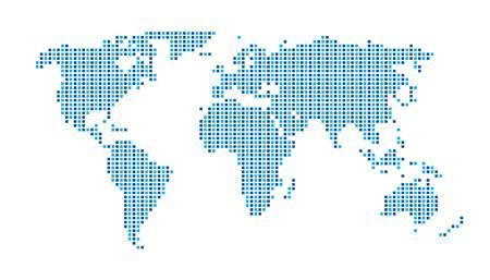 Illustration pour World Map  Dots Matrix Two Tone pattern  Blue - image libre de droit