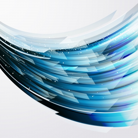 Illustration pour abstract vector background wiht transparent blue-gray elements  - image libre de droit